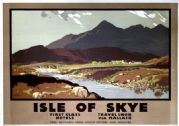 Isle of Skye, Cuillin Hills, Scottish Highlands. LNER Vintage Travel Poster by Austin Cooper